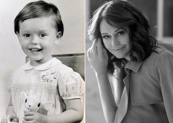 Ирина Безрукова в детстве и сейчас