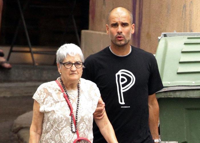 Хосеп Гвардиола и мать