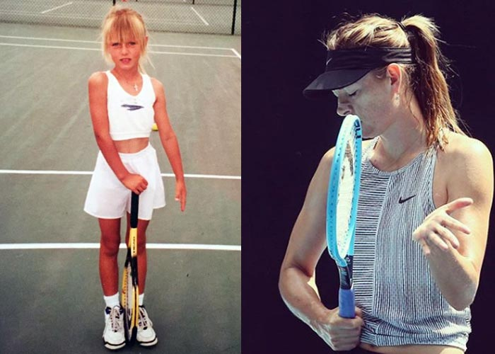 Мария Шарапова в детстве и сейчас
