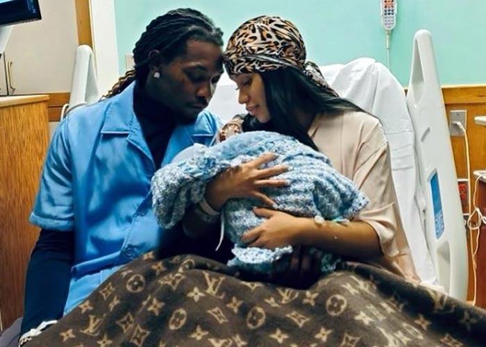 Рэперы Карди Би и Offset с новорожденным сыном