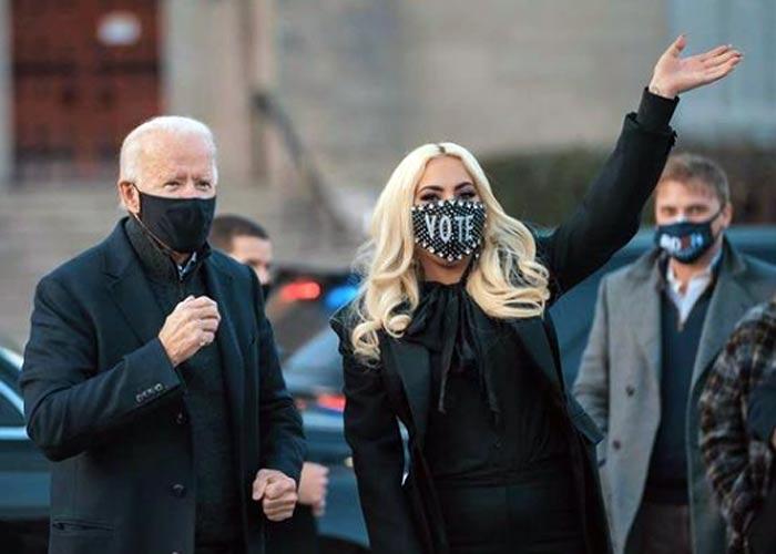 Леди Гага и Джо Байден