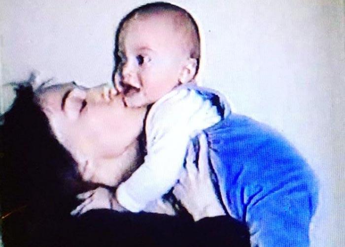 Лариса Гузеева в молодости с дочерью