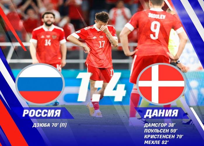 Россия Дания поражение