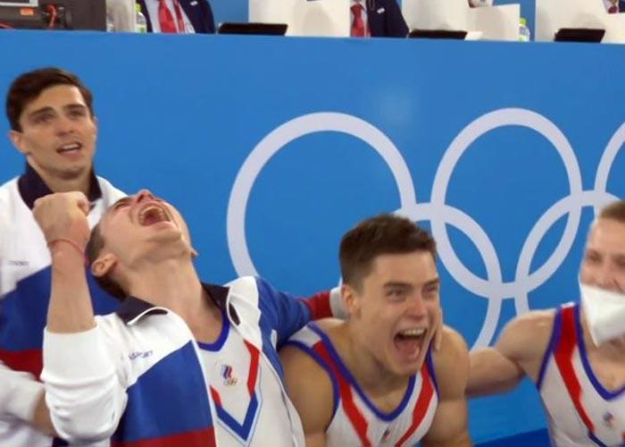 российские гимнасты победа Олимпиада 2020