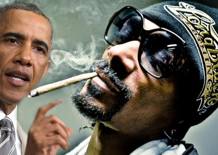 Снуп Догг курит марихуану с Обамой