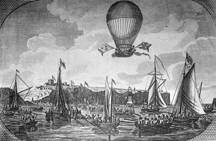 полет Жана-Пьера Франсуа Бланшара на воздушном шаре