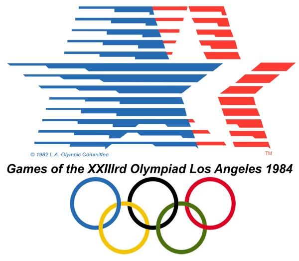 Эмблема XXIII летние Олимпийские Игры 1984