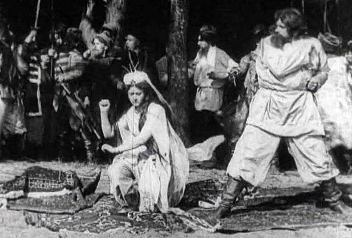 кадр из первого русского фильма Понизовая вольница