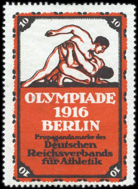 Марка VI Летние Олимпийские игры 1916 года в Берлине