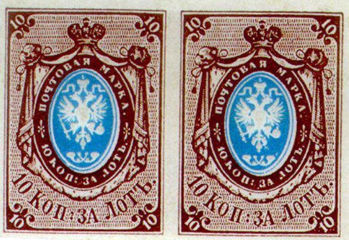 первая российская почтовая марка