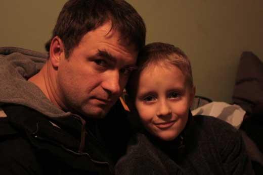 Андрей Казаков с сыном Макаром