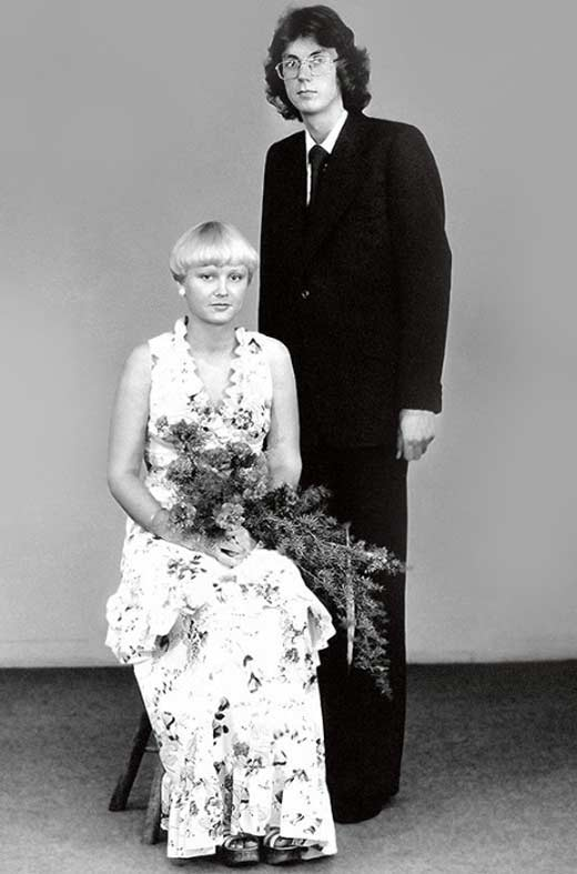 Анне Вески с первым мужем