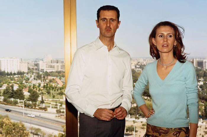 Башар Асад с женой 3