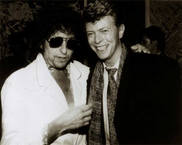 Боб Дилан и Дэвид Боуи
