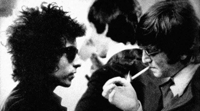 Боб Дилан и Джон Леннон