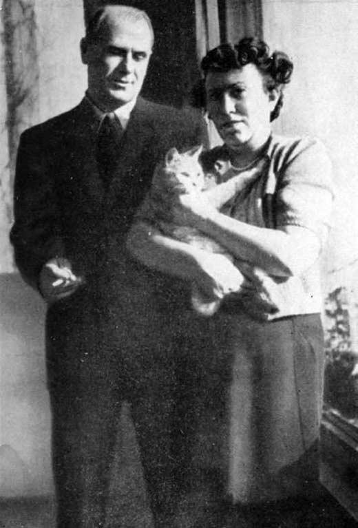 Борис Бабочкин с женой