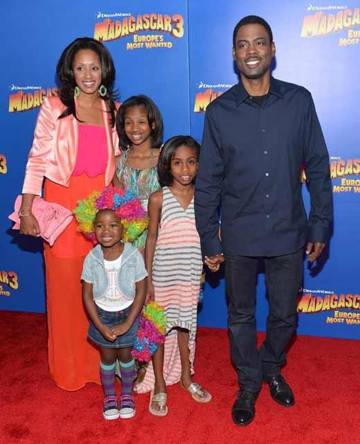Крис Рок с женой и детьми 2