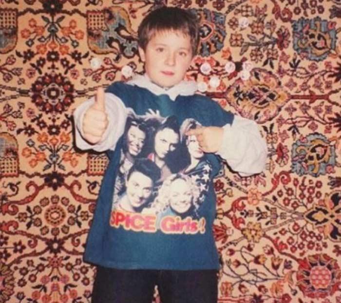 Денис Кукояка в детстве