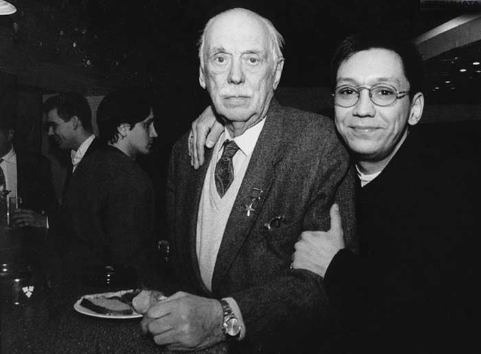 Егор Кончаловский с дедом Сергеем Михалковым