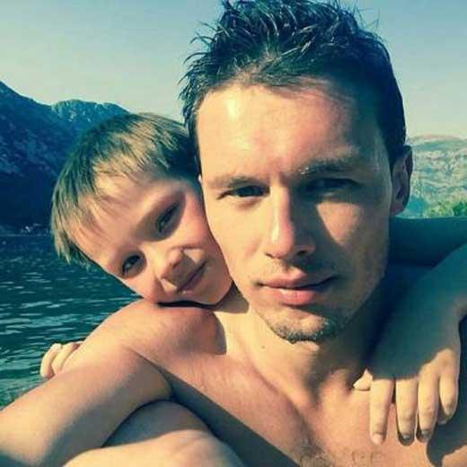 Эльдар Лебедев с сыном