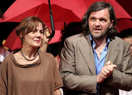 Эмир Кустурица с женой Майей