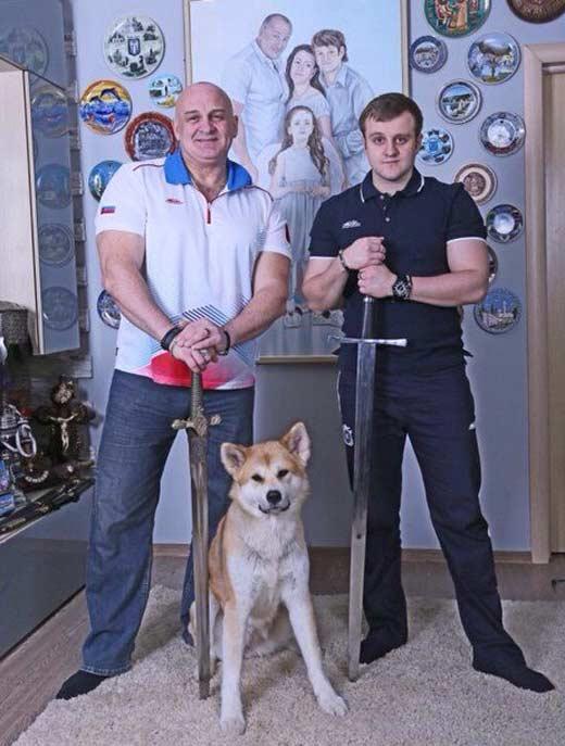 Игорь Огурцов с отцом