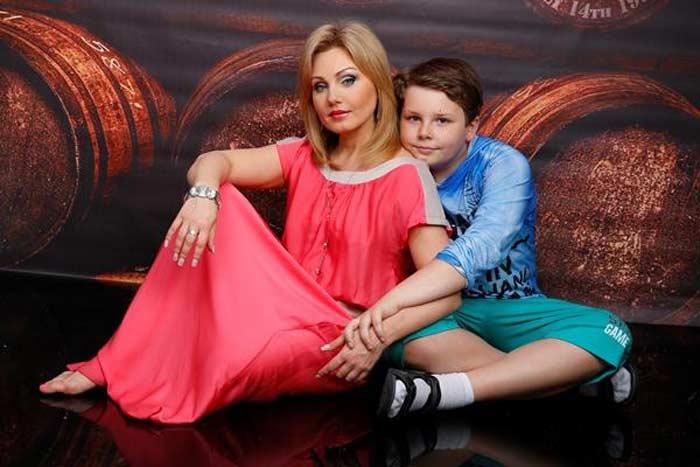 Ирина Климова и сын Никита