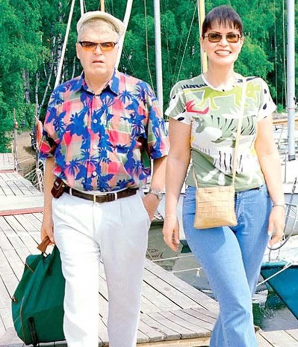 Михаил Кокшенов с первой женой Еленой