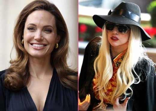 Леди Гага и Анджелина Джоли