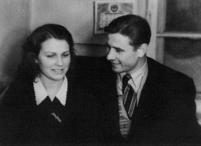 Лев Яшин с женой Валентиной