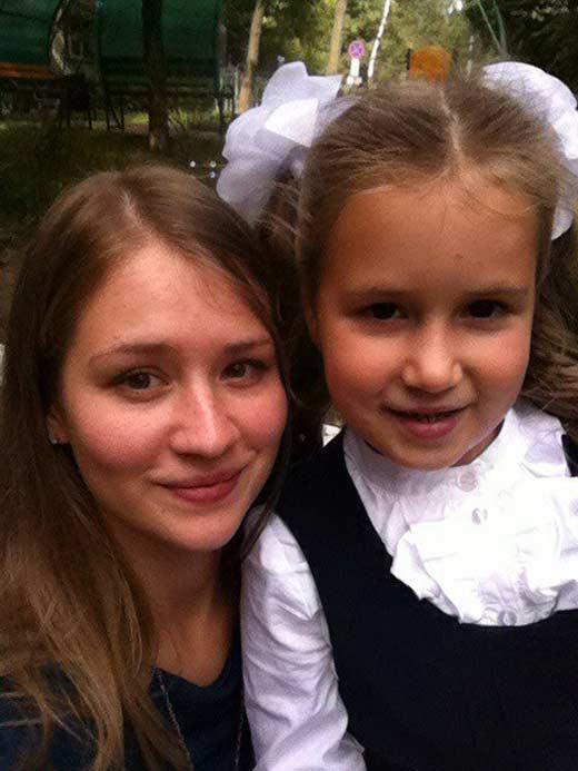 Анна Леванова с дочерью