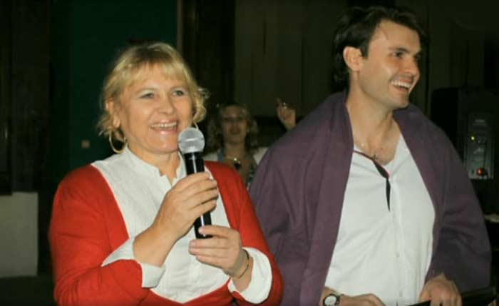 Любовь Полехина и сын Дмитрий Риберо