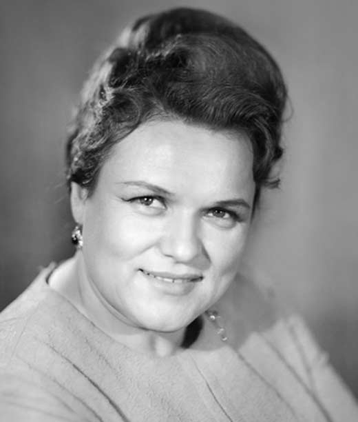 Людмила Зыкина в молодости