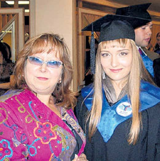 Марина Ишимбаева с дочерью Александрой
