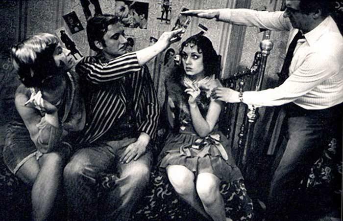 Марк Захаров на съемках фильма Двенадцать стульев