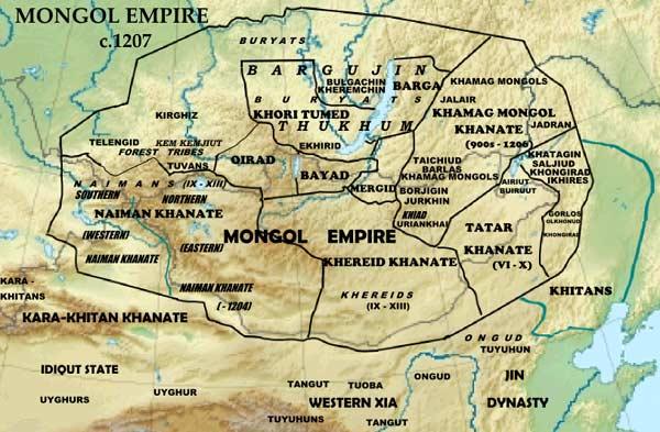 Монгольская империя 1207