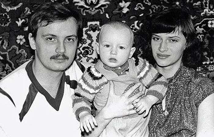 Наталия Гулькина с первым мужем