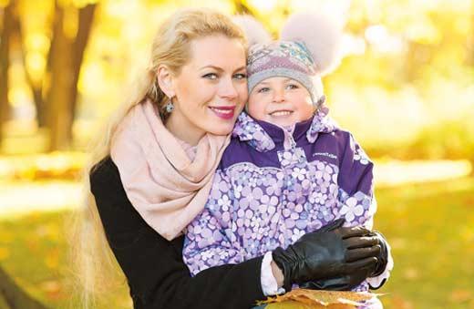 Оксана Скакун с дочерью Николеттой