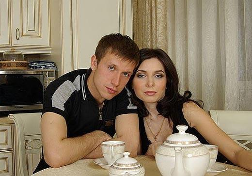 Олег Кузьмин с женой Ксенией