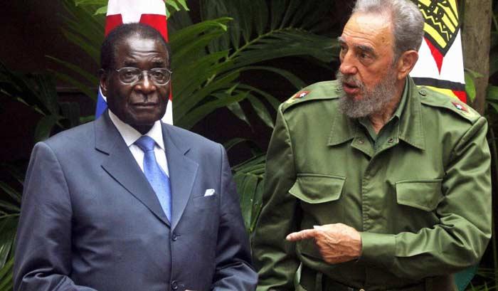 Роберт Мугабе и Фидель Кастро