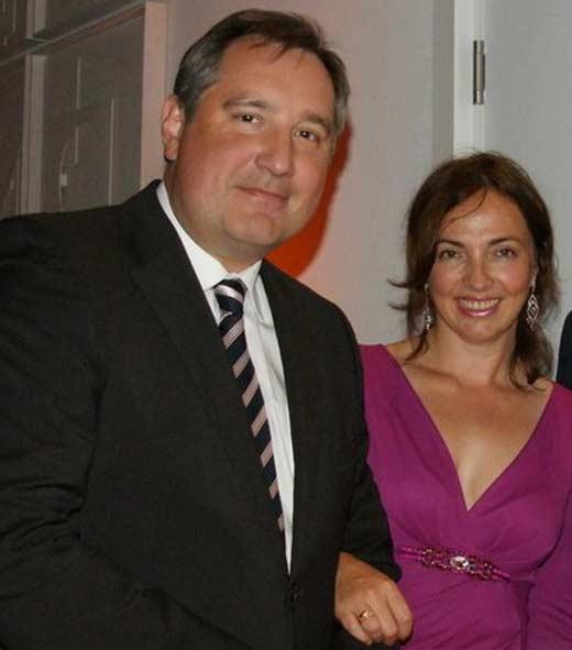 Дмитрий Рогозин с женой 2