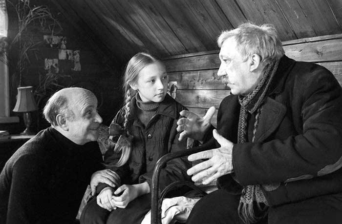 Ролан Быков на съемках фильма Чучело