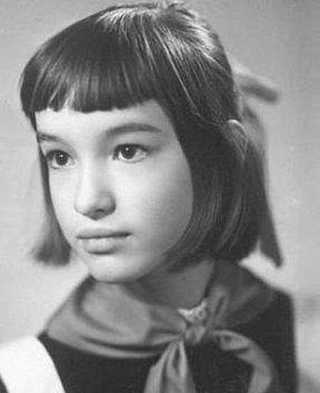 Анна Самохина в детстве