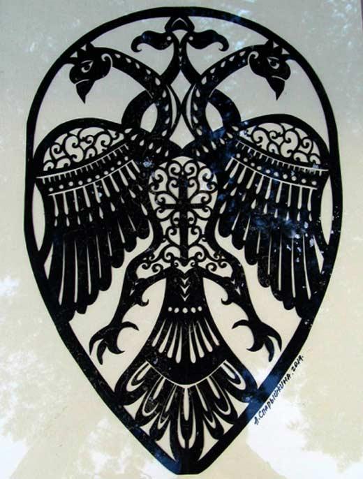 Герб Софии Палеолог с двуглавым орлом