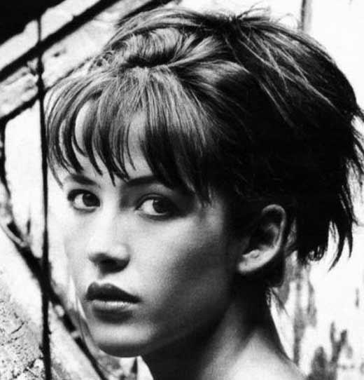 Софи Марсо в юности 2
