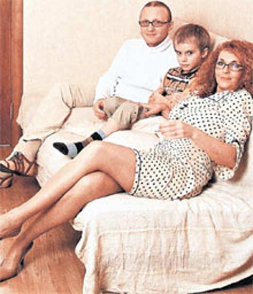 Татьяна Лютаева и Дмитрий Мишин с сыном Домиником