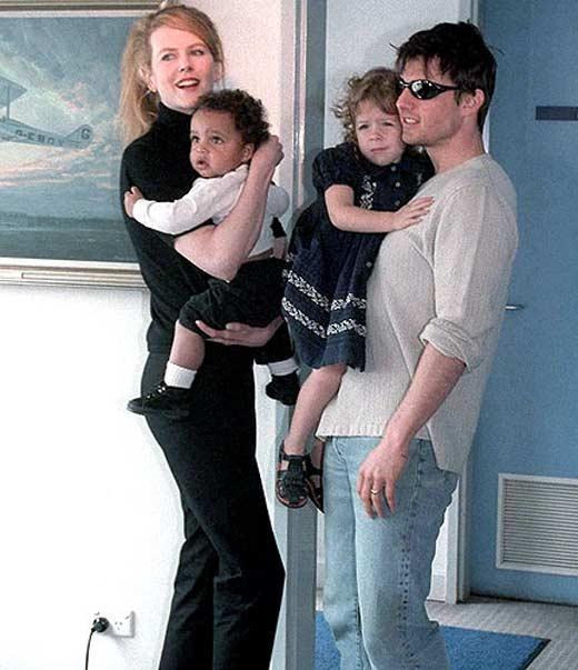 Том Круз и Николь Кидман с приемными детьми