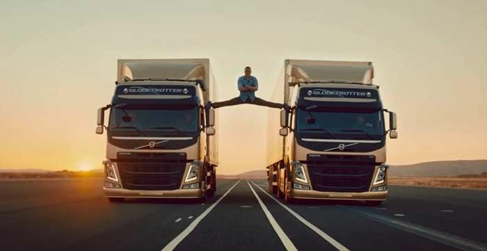 шпагат на грузовиках Жан-Клод Ван Дамм