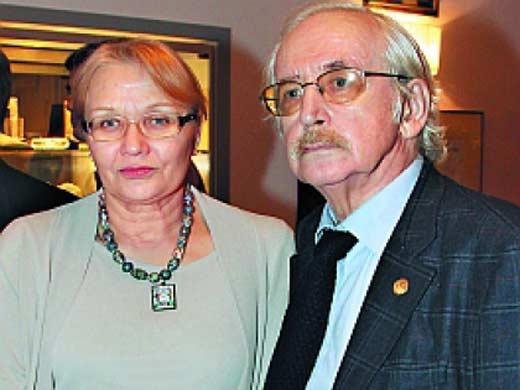 Василий Ливанов с женой Еленой