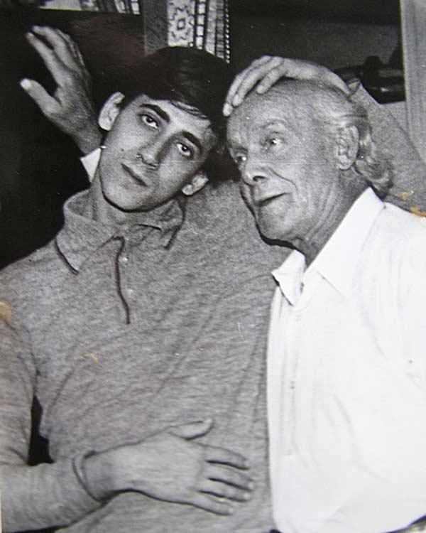 Евгений Дворжецкий с отцом Вацлавом Дворжецким